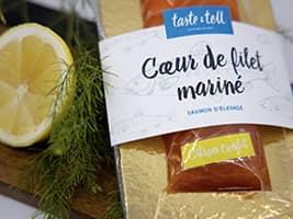 Saumon mariné aux saveurs de citron confit